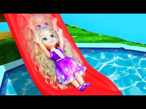 Disney Princess | Slide and Splash with Toys for Kids in Pool