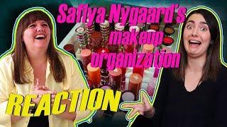 Professional Organizer REACTS to: SAFIYA NYGAARD'S Makeup Organization