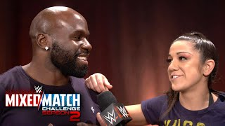 Bayley reacts to Apollo Crews replacing Finn Bálor as her partner on WWE MMC