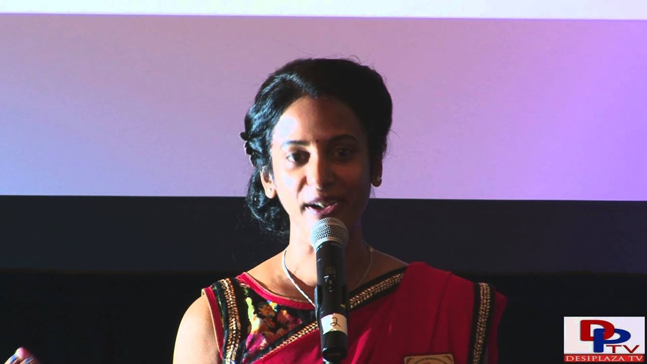 President Sudha Reddy talking at first annual event DFW at Dallas, Texas