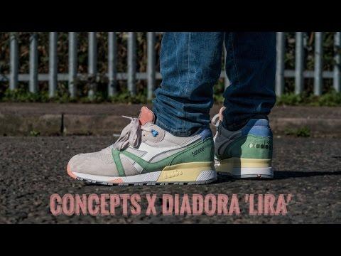 Concepts X Diadora N9000   Lira   +On Feet   Ash Bash