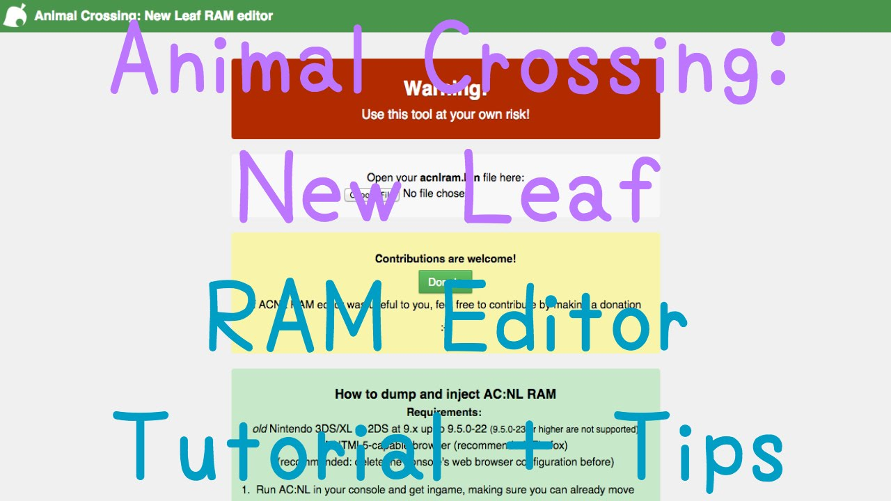 Outdated animal crossing new leaf ram save editor full tutorial outdated animal crossing new leaf ram save editor full tutorial youtube gumiabroncs Image collections