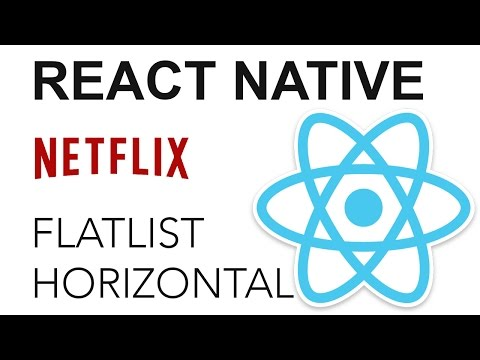 React Native – Netflix App: FlatList horizontal | Coding Videos