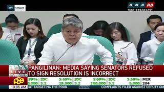 Pangilinan: Incorrect to say majority senators refused to sign resolution on EJKs (2)