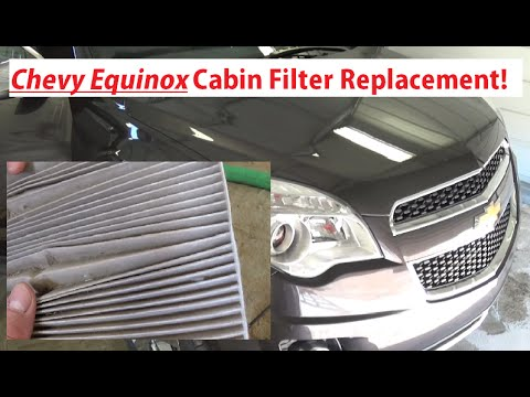 Chevrolet Equinox Cabin Air Filter Replacement 20102015 Equinox  YouTube