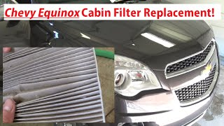 Chevrolet Equinox Cabin Air Filter Replacement 2010-2015 Equinox
