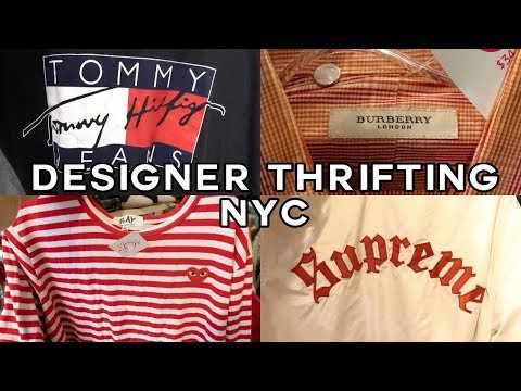 DESIGNER THRIFTING IN NYC | (Supreme, CDG, Gucci)