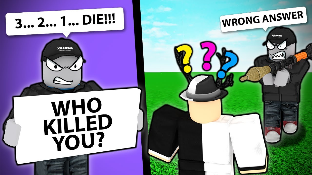 If You Answer WRONG, YOU GET KILLED... (Roblox)