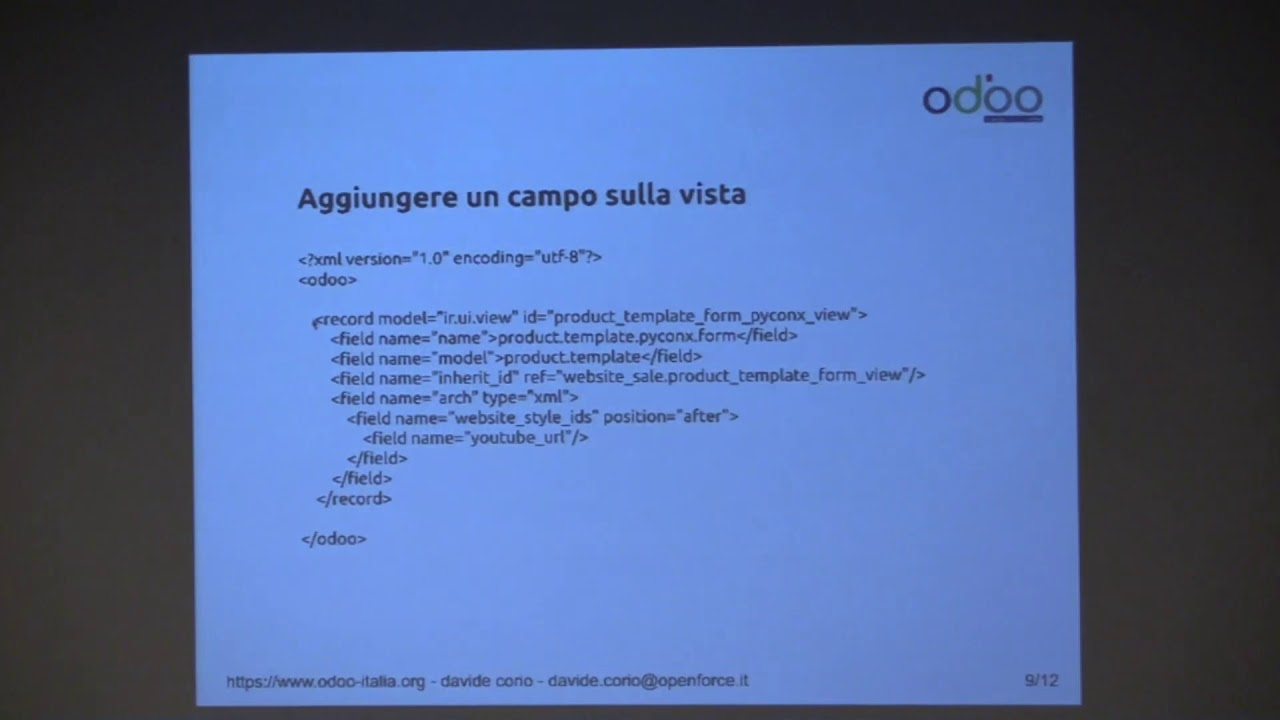 Image from Davide Corio - Costruire un sito e-commerce con Odoo