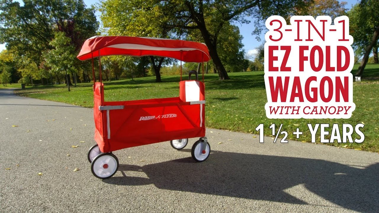3 In 1 Ez Fold Wagon With Canopy Youtube