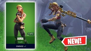 NEW AURA SKIN Gameplay in fortnite!