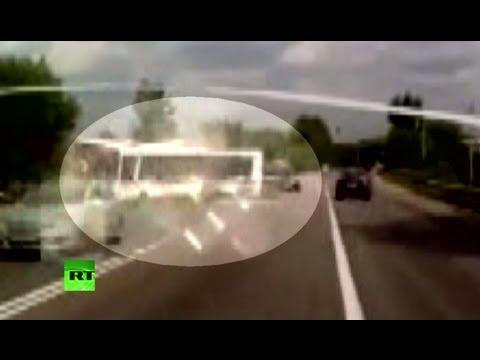 Авария под Подольском: 18 погибших (запись с видеорегистратора)