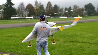 2x Giant Kaman K-Max Rotex double Rotor R/C turbine Helicopter without Tailrotor