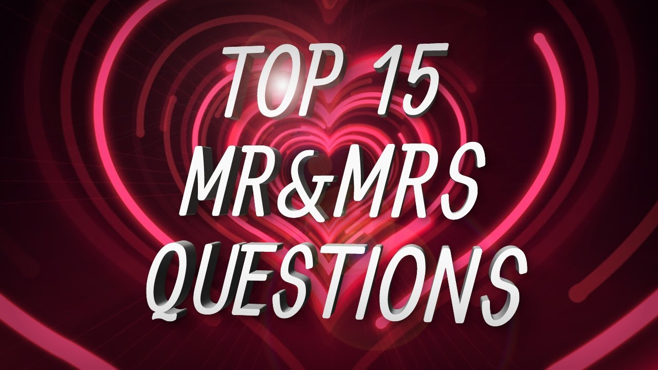 Mr And Mrs Hen Party Questions: The Best Hen Party Mr&Mrs Questions!
