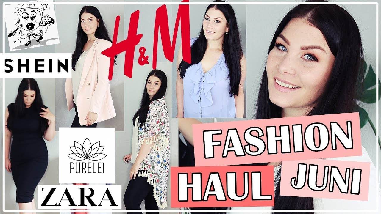 90cdfff532 TRY ON FASHION HAUL JUNI 2018 / PURELEI, H&M, SHEIN PLUS SIZE,  EDELSCHNITTE, ZARA