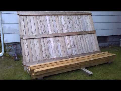 1800's House Installing a 6x8 wooden fence pt 1