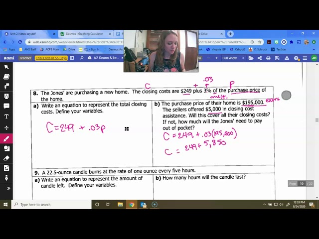 Algebra 2: Linear Applications and Regression
