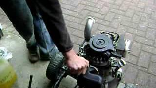 Le karteuse: kart moteur tondeuse test 1ere transmission