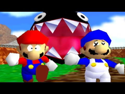 Thumbnail: super mario 64 bloopers: Who let the chomp out?