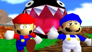One of SMG4's most viewed videos: super mario 64 bloopers: Who let the chomp out?