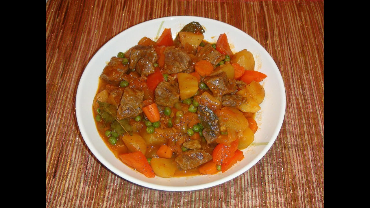 Pinoy Recipe Beef Afritada Beef Stew With Tomato Sauce And Potatoes Youtube