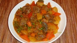 Pinoy Recipe - Beef Afritada [beef Stew With Tomato Sauce And Potatoes]