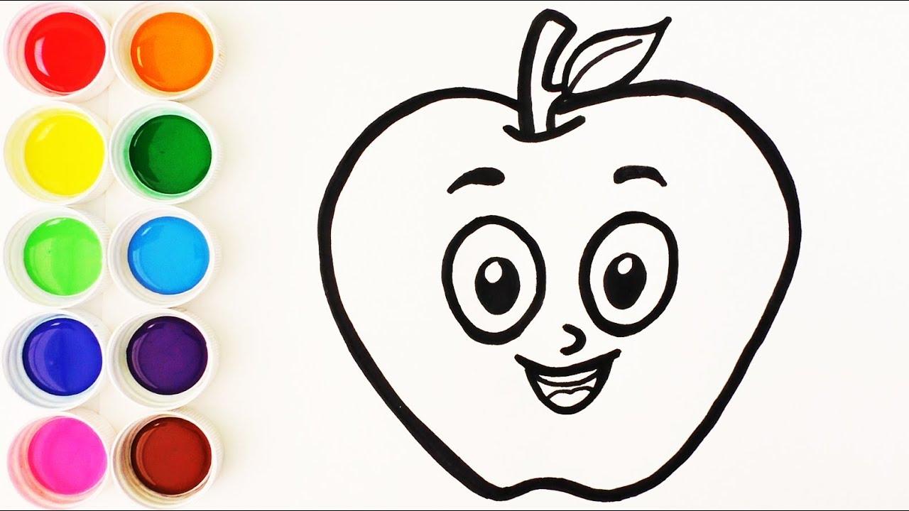Cómo Dibujar y Colorear Una Manzana - Videos Para Niños - Learn ...