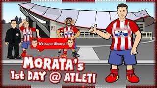 🤣MORATA's 1st DAY AT ATLETI!🤣 (Alvaro Morata signs for Atletico Madrid Parody Transfer)