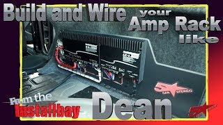 Do you want to build and wire your amp rack like Dean?