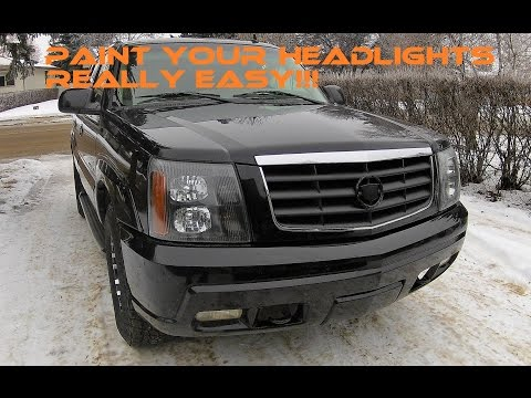 escalade headlights in the oven removal and paint youtube escalade headlights in the oven removal