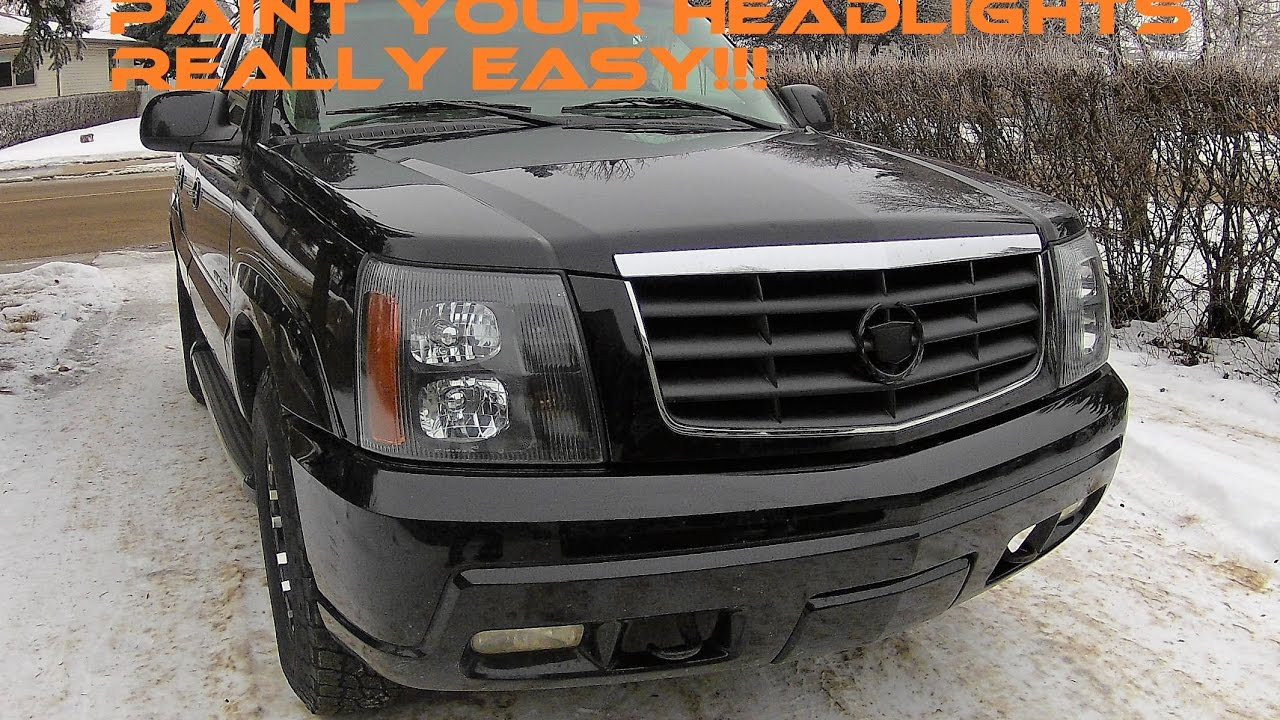 Escalade Headlights In The Oven Removal And Paint Youtube