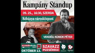 Kampánybeszélgetés Kőbányán Konok Péterrel   2019.09.25.