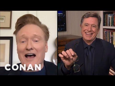 #ConanAtHome: Stephen Colbert Full Interview - CONAN on TBS