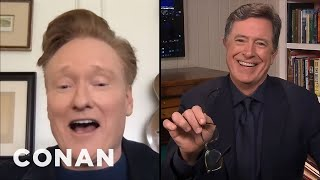 #ConanAtHome: Stephen Colbert Full Interview - CONAN on TBS
