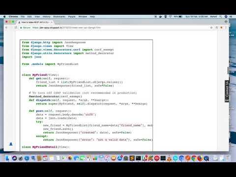 Django REST API tutorial without DRF (Django REST Framework) | Django Tutorial | REST API in Python