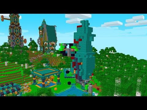 MARCY COSTRUISCE LA FARM DI LEGNO BLU PER STEF! BIG VANILLA - Minecraft ITA