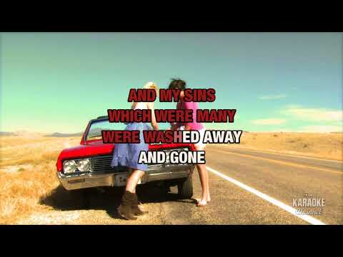 Baptism (Live) in the style of Randy Travis | Karaoke with Lyrics