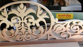 "Some details on the method of making a fretwork pediment and archway. Manufactured on a 24"" Diamond Fretsaw. Kd 2016."