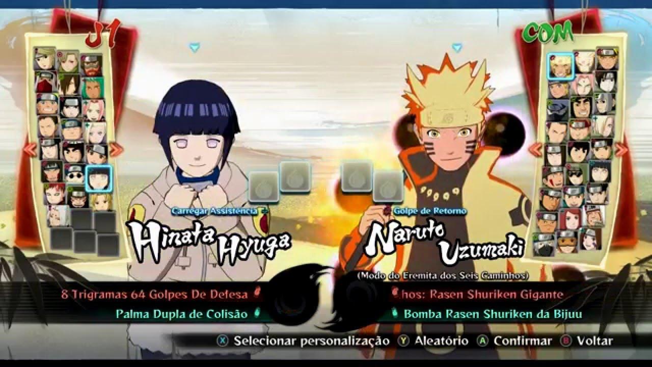 Naruto Ultimate Ninja Storm 4: Abra Todos Personagens