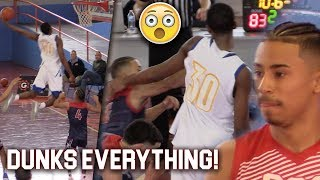 Julian Newman HEATED vs HIGHFLYER! CRAZY DUNKS! Emmanuel&Julian The Most Exciting Backcourt in HS?!