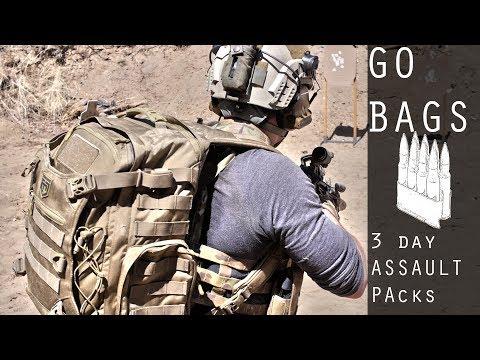 Basics of Go Bags / 3 Day Assault Packs