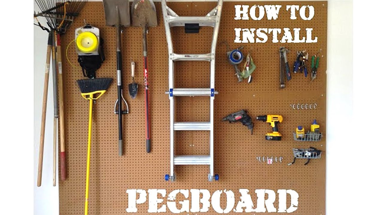 How to Install Pegboard  YouTube