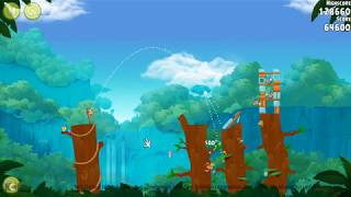 Angry Birds Rio Timber Tumble Level 1-4  129840