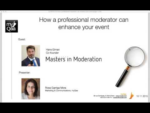 How a professional moderator can enhance your event