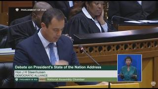 John Steenhuisen: 2017 SONA debate [FULL SPEECH]