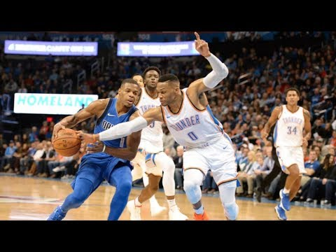 Russell Westbrook's Birthday Game! Paul George 37 Points! Mavericks vs Thunder 2017-18 Season