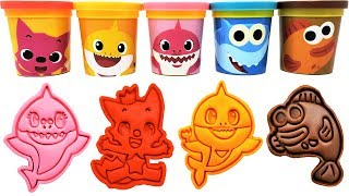 Baby Shark Play-Doh Molds & Surprise Toys Pinkfong Learn Colors for Kids