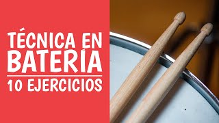 Gambar cover 4. Aprende 10 Ejercicios de Técnica para Tocar Batería  (Curso de Batería)