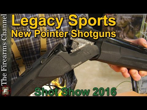 Legacy Sports Pointer Deluxe Semi Auto and Pointer Synthetic Shotguns at Shot Show 2016 on The Firea