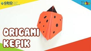 Origami Hewan - Kreasi Membuat Origami Kepik Bersama @MajalahMombi - Kreatif
